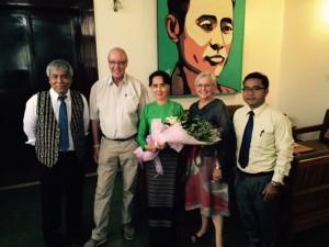 Visit to Aung San Suu Kyi accompanied by Zaceu Lian and Dr. Lian Sakhong.