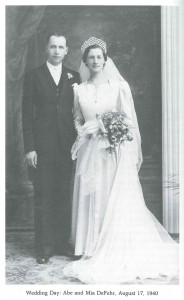 Wedding Day: Abe and Mia - August 17, 1940