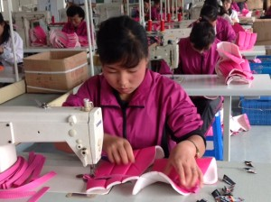 """Sewing factory """"Made in China"""" Pammunjom"""