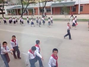 School children from the bus