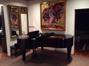 Leona's piano at home