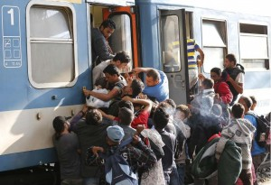 Blog Post 17 - People pushing onto train