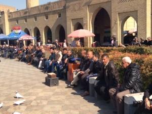 Center of Erbil - its still a man's world!
