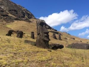 The hillside or quarry where the moai originate