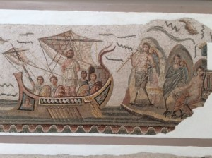 Roman mosaic in Bardo Museum. Tunis was once the second city in the Roman Empire.
