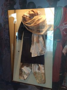 The scarf worn by Malala when she was shot - an exhibit in the museum