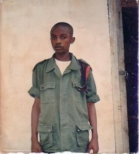 Junior in his days as a child soldier.